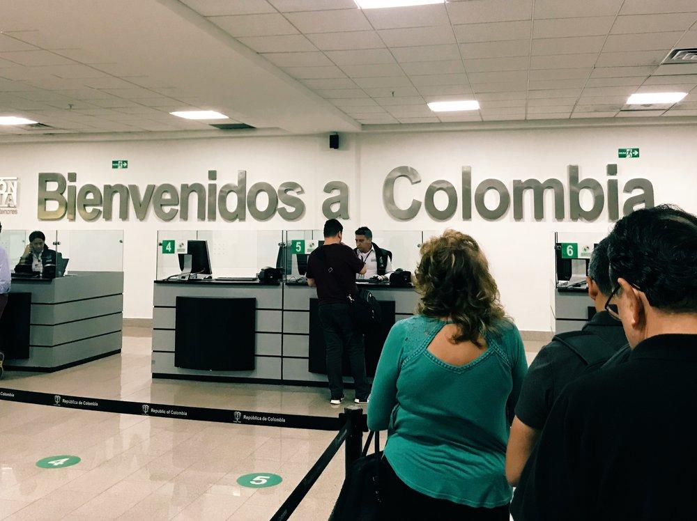 Migracion en el aeropuerto de Cartagena