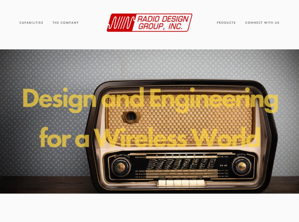 Squarespace website design and management for  Radio Design Group, Inc.