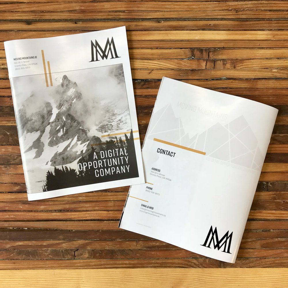 Copy, Brand & Marketing materials for  Moving Mountains