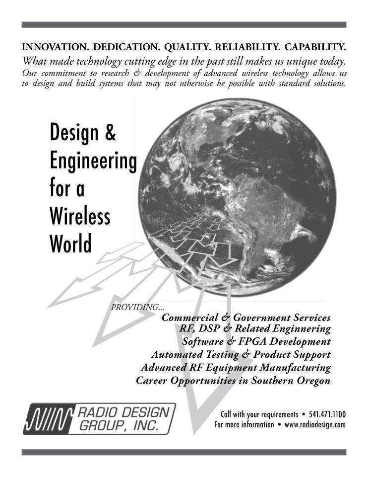 Advertisement for Radio Club of America newsletter.