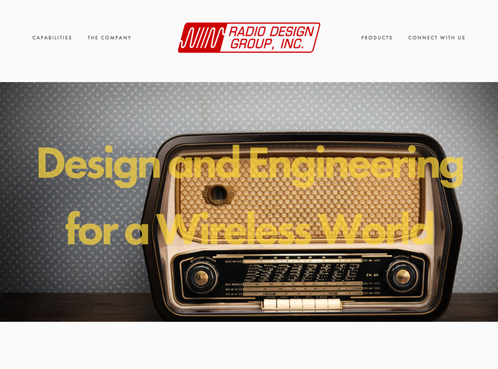 Home page for the  RDG  Squarespace website.