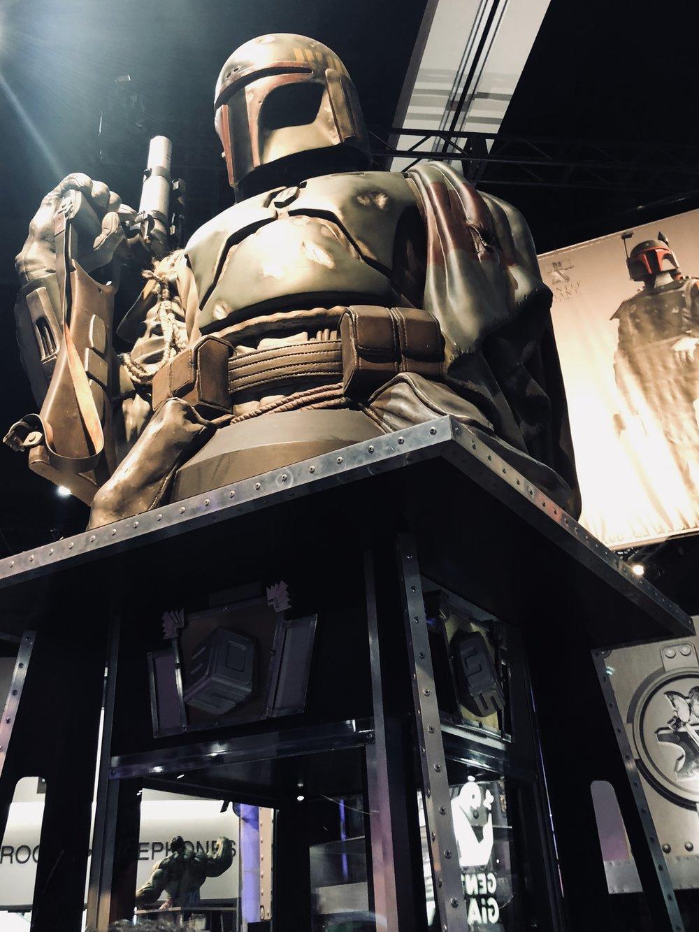 Giant Boba Fett display.