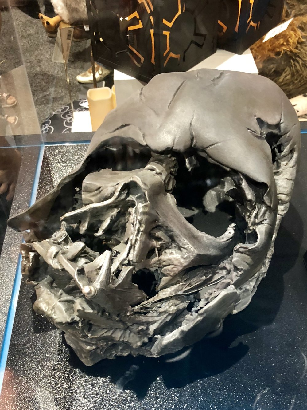 Melted Darth Vader mask from  The Force Awakens.