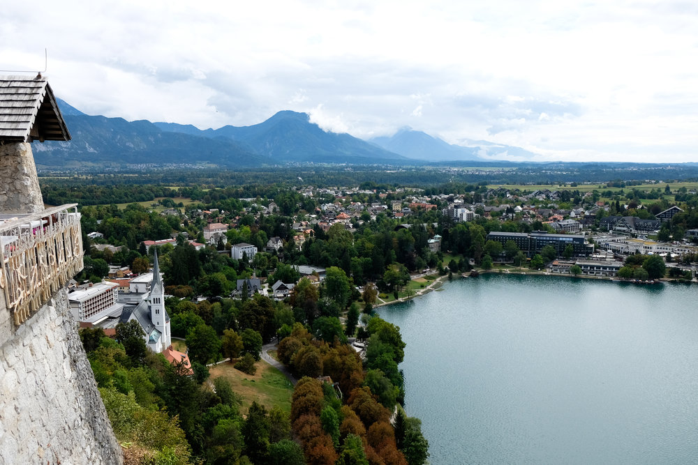View of Bled from the castle