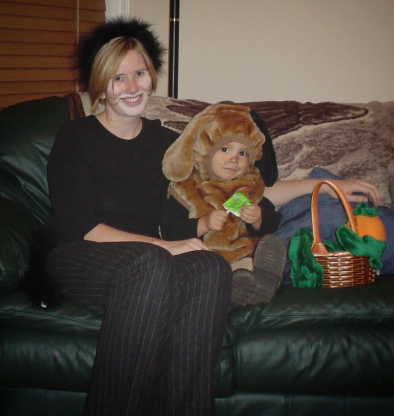 See, I managed to go along with dressing up as a cat with my 2-year-old son as a puppy (2005).