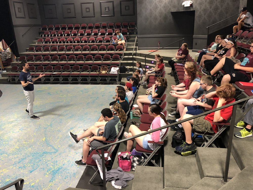 Improv workshop for the Summer Conservatory at  The Arts Center of Cannon County