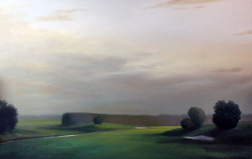 "SOLD Fairway Series 2 - 72"" x 48"" - oil on canvas"