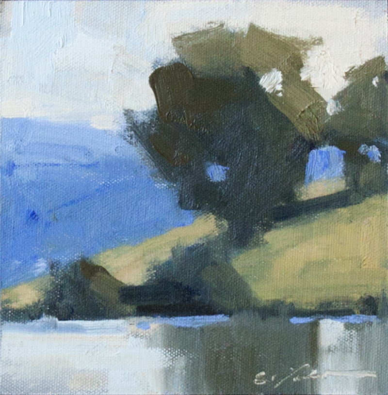 """SOLD Solitude - 6"""" x 6"""" - oil on canvas"""