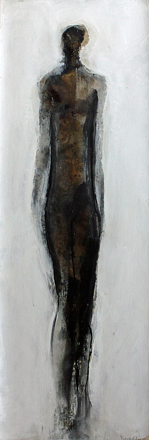 """Untitled 6 - 12 1/2"""" x 37 3/4"""" - mixed media on paper"""