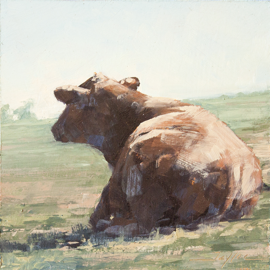 """SOLD At Rest - 6"""" x 6"""" - oil on board"""