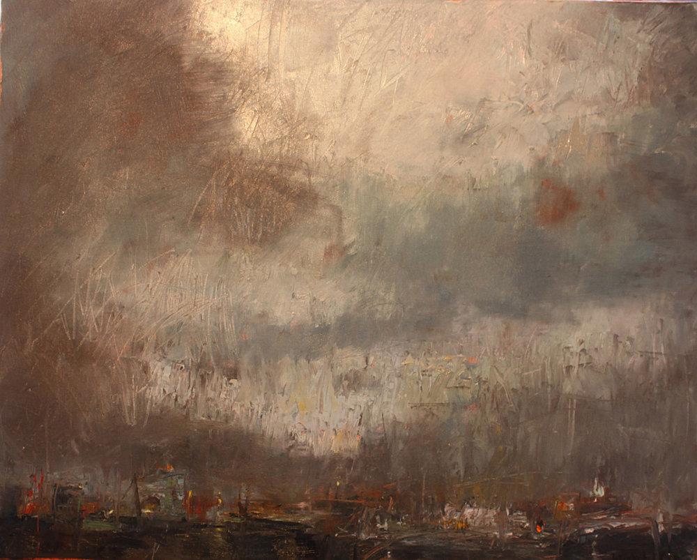 "Midnight Storm - 30"" x 24"" - oil on canvas"