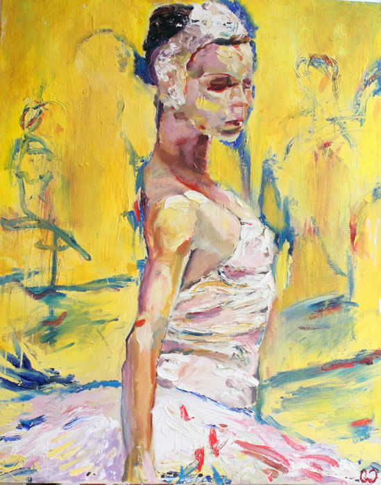 "La Danseuse Jaune - 24"" x 30"" - oil on canvas"