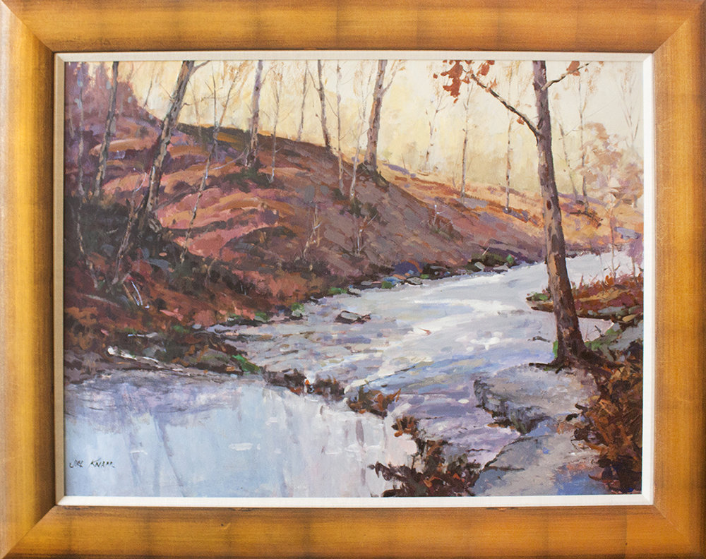 "Rippling Creek - 40"" x 30"" - oil on panel"