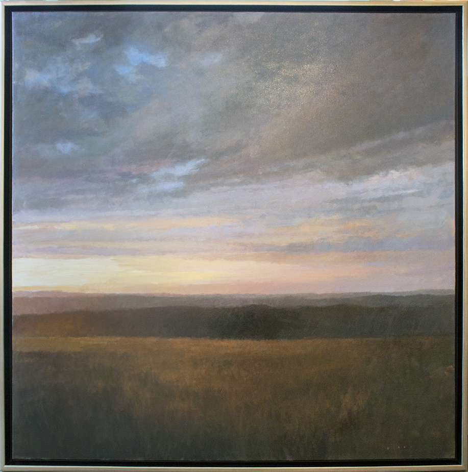 """SOLD Rising Light - oil on canvas - 48"""" x 48"""""""