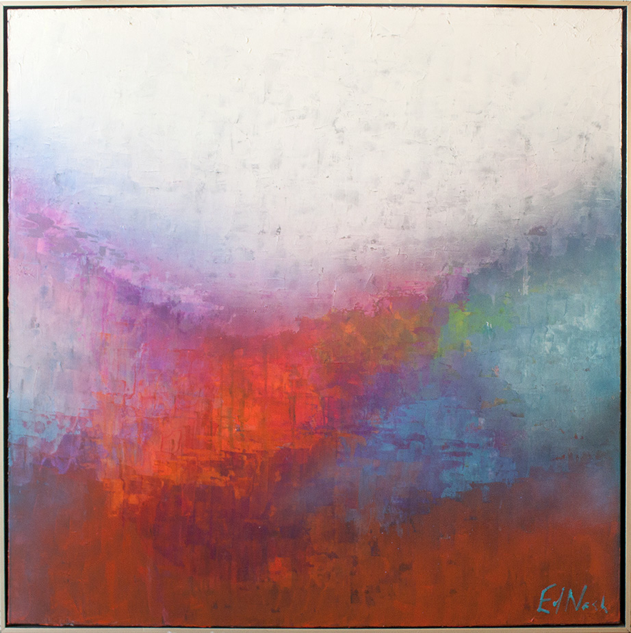 "Embrace - 48"" x 48"" - mixed media on canvas"