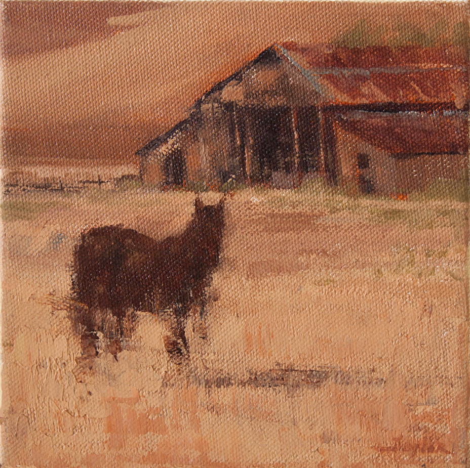 "Afternoon Greeting - 6"" x 6"" - oil on canvas"