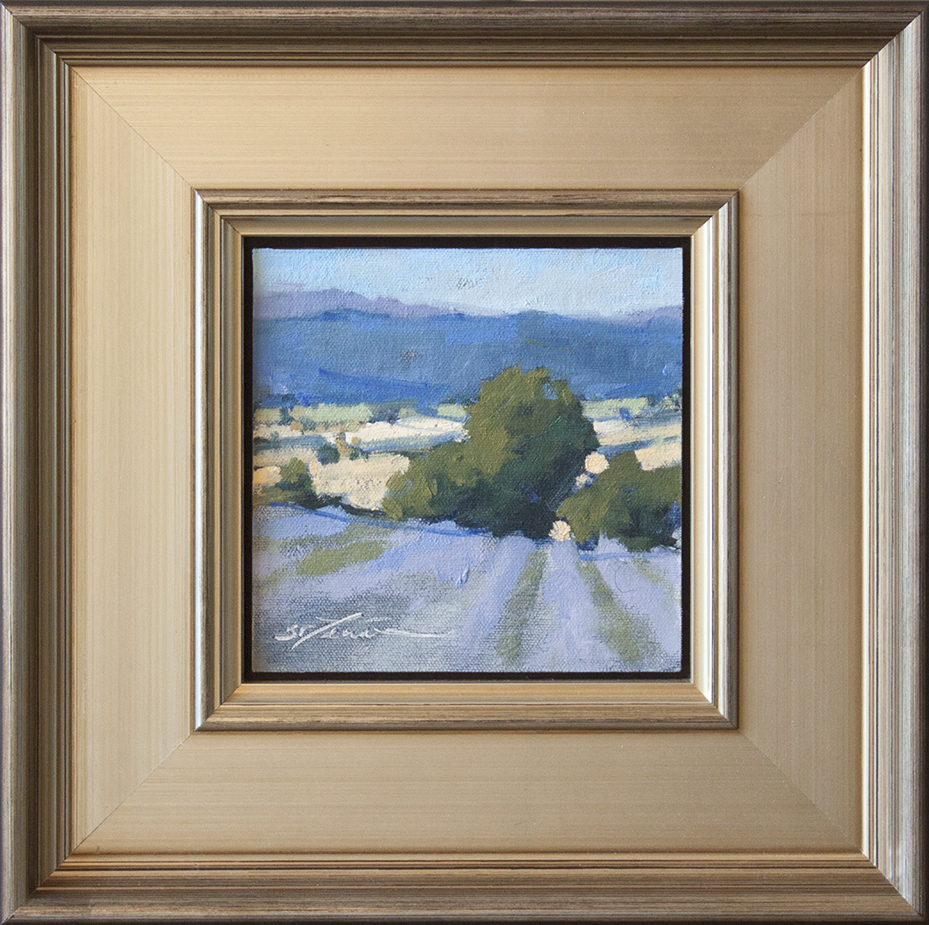 """Time for Harvest - 6"""" x 6"""" - oil on board"""