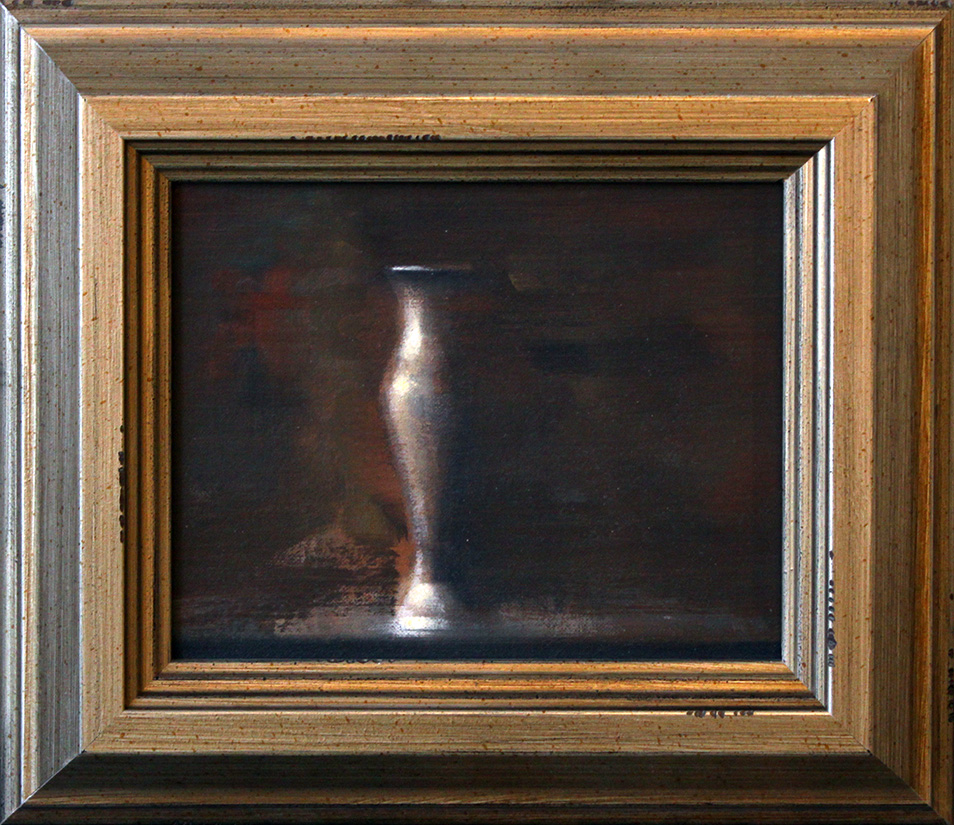 "Brass Vial 2 - 10"" x 8"" - oil on panel"