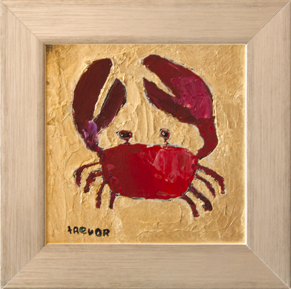 "I'm Crabby - 4"" x 4"" -acrylic on board"