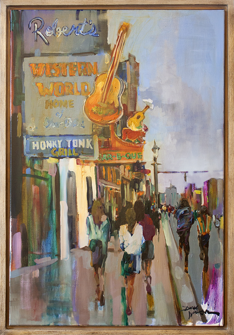 """Hitting the Clubs on Broadway - 24"""" x 36"""" - oil on canvas"""