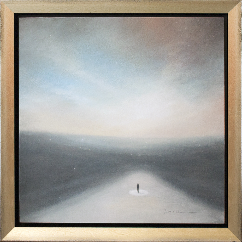 """You're Not Alone - 18"""" x 18"""" - oil on board"""