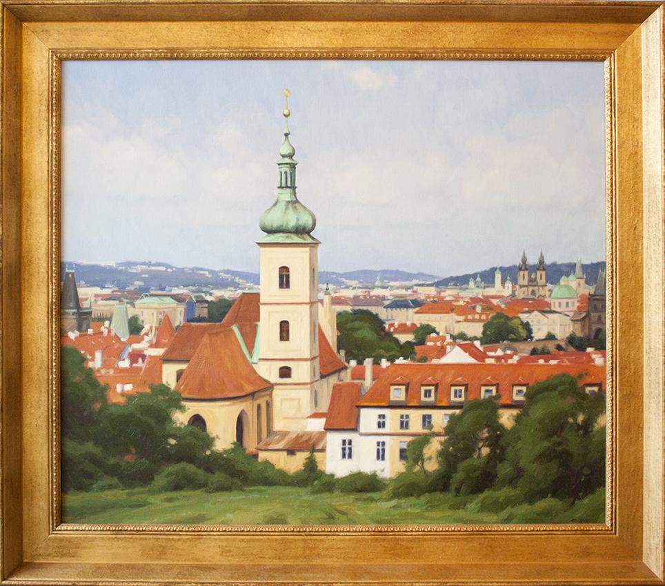 """Summer in Prague - 40"""" x 30"""" - oil on panel"""