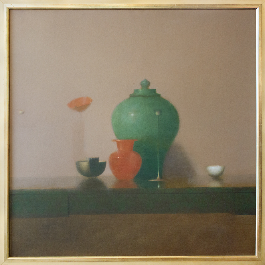 "Oriental Still Life - 36"" x 36"" - oil on panel"
