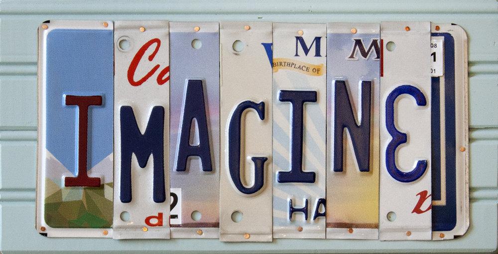 """Imagine - 14"""" x 7 1/4"""""""