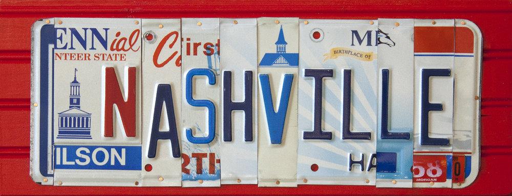 "Nashville - 18 1/2"" x 7 1/4"""