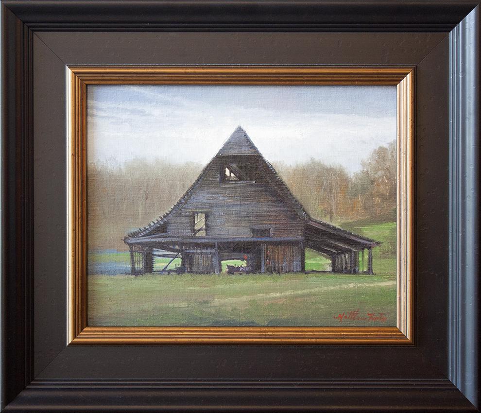 "Barn at Fairview - 14"" x 11"" - oil on canvas"
