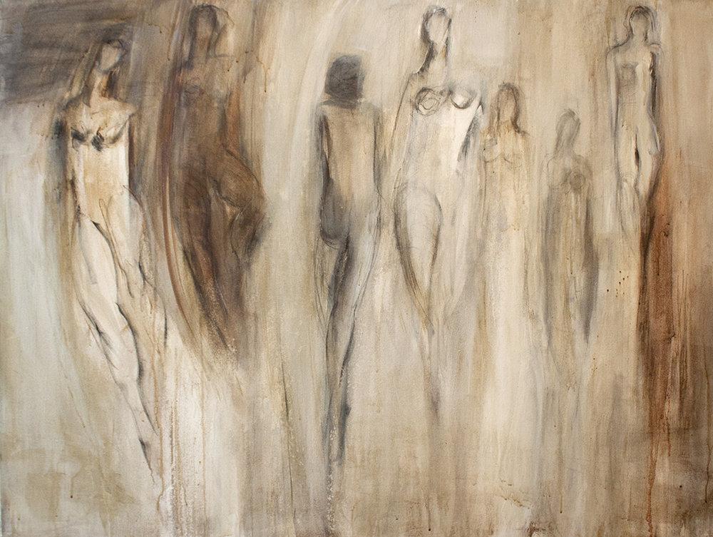 "Danseuse - 48"" x 36"" - mixed media on canvas"