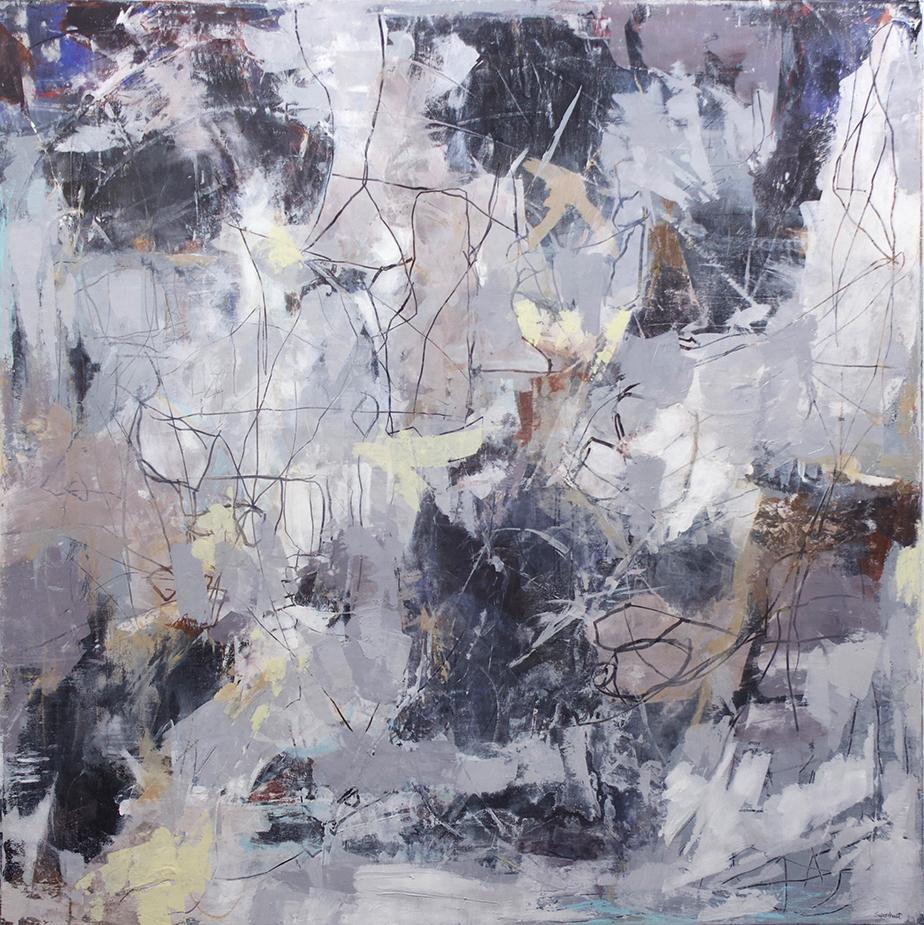 """Monumental Heist - 48"""" x 48"""" - acrylic on canvas"""
