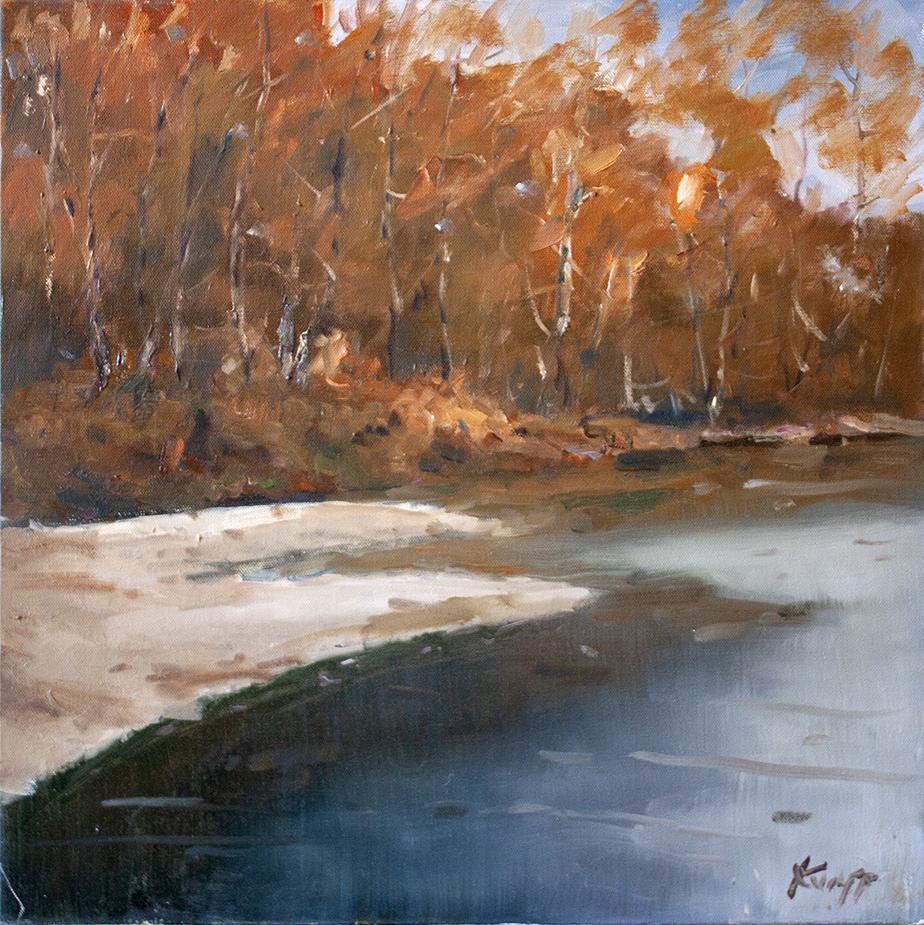 """Sand Bar - 20"""" x 20"""" - oil on canvas"""