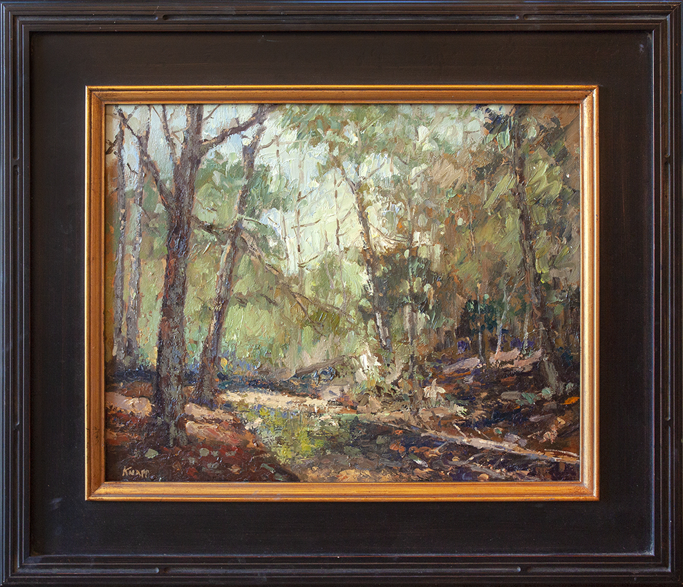 """Station Camp Creek - 20"""" x 16"""" - oil on board"""