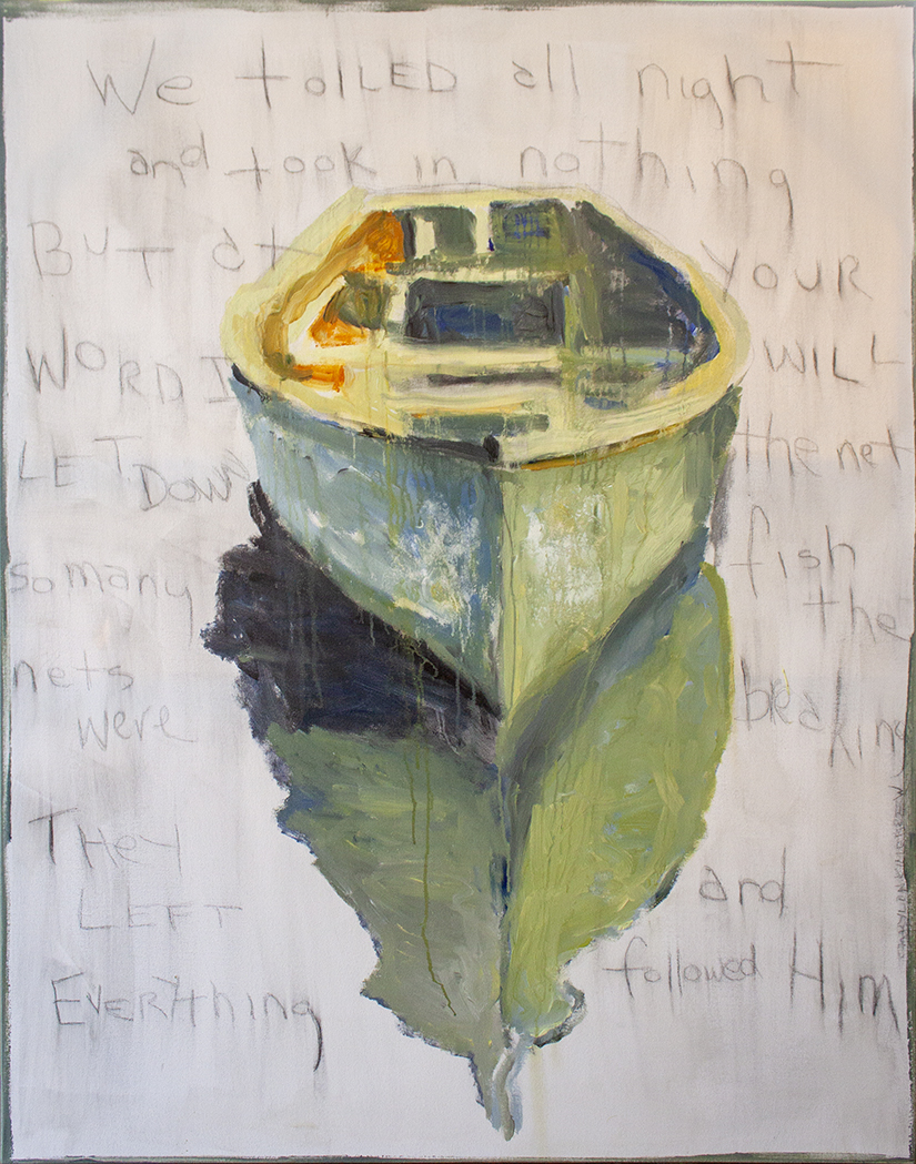 """SOLD Let Down the Net - 48"""" x 60"""" - oil on canvas"""