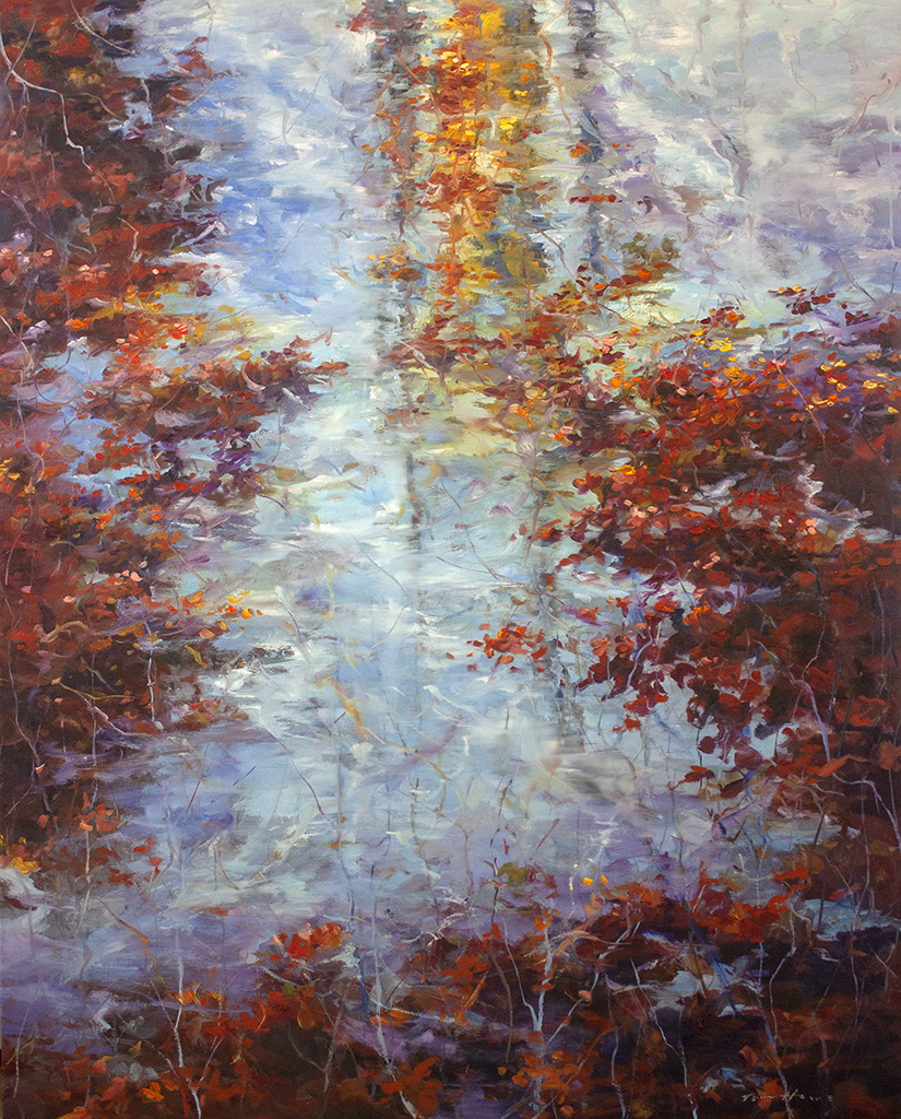 """Peaceful Visions - 47 1/2"""" x 60"""" - oil on canvas"""