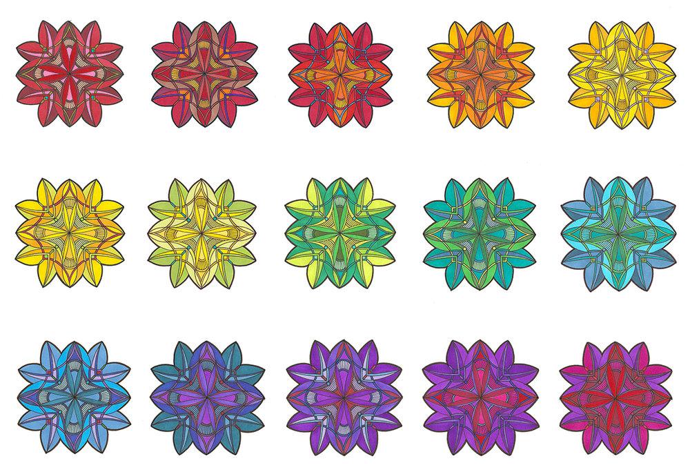 Tetramir sets: Top row: #1, 3, 5, 7, 9; Center row: #11, 13, 15, 17, 19; Bottom row: #21, 23, 25, 27, 29