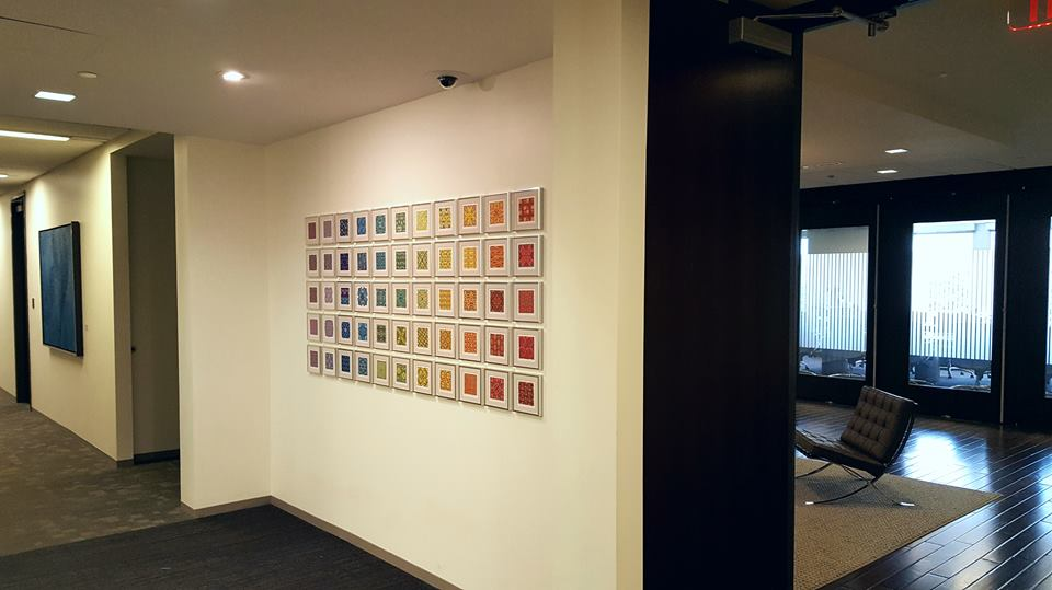 An installation from the series in a client's reception area of their office