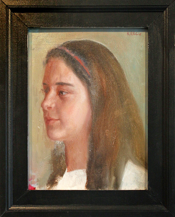 "Anna Marie - 9"" x 12"" - oil on board"