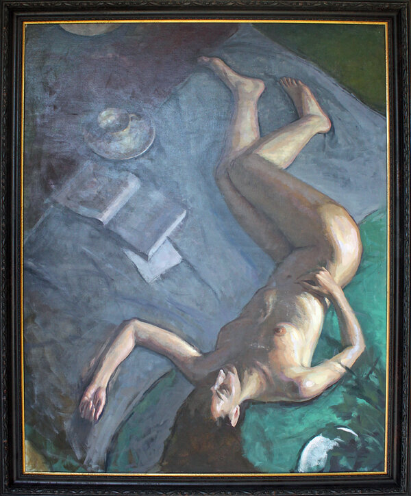 "Figure From Above - 48"" x 60"" - oil on panel"