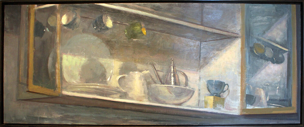 Cupboard From Below - 55 1/2 x 22 - oil on panel