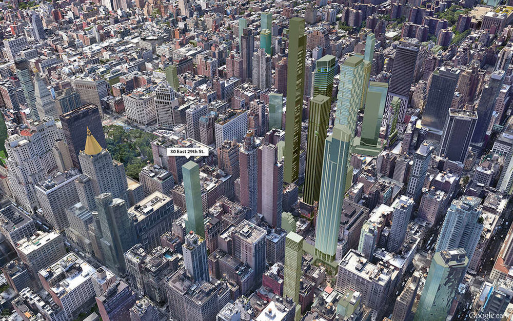 You can see here how the new tower will add to the New York skyline (CentaRuddy)