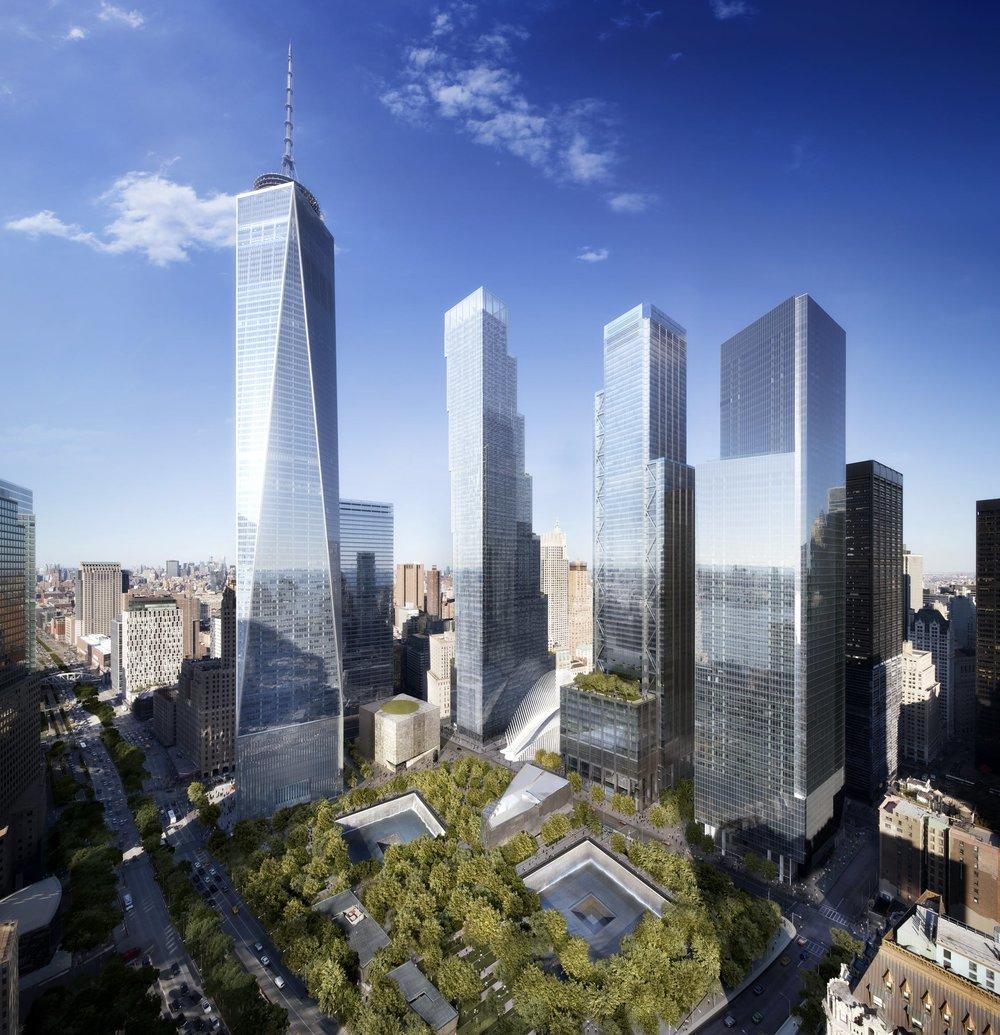 The entire WTC complex.