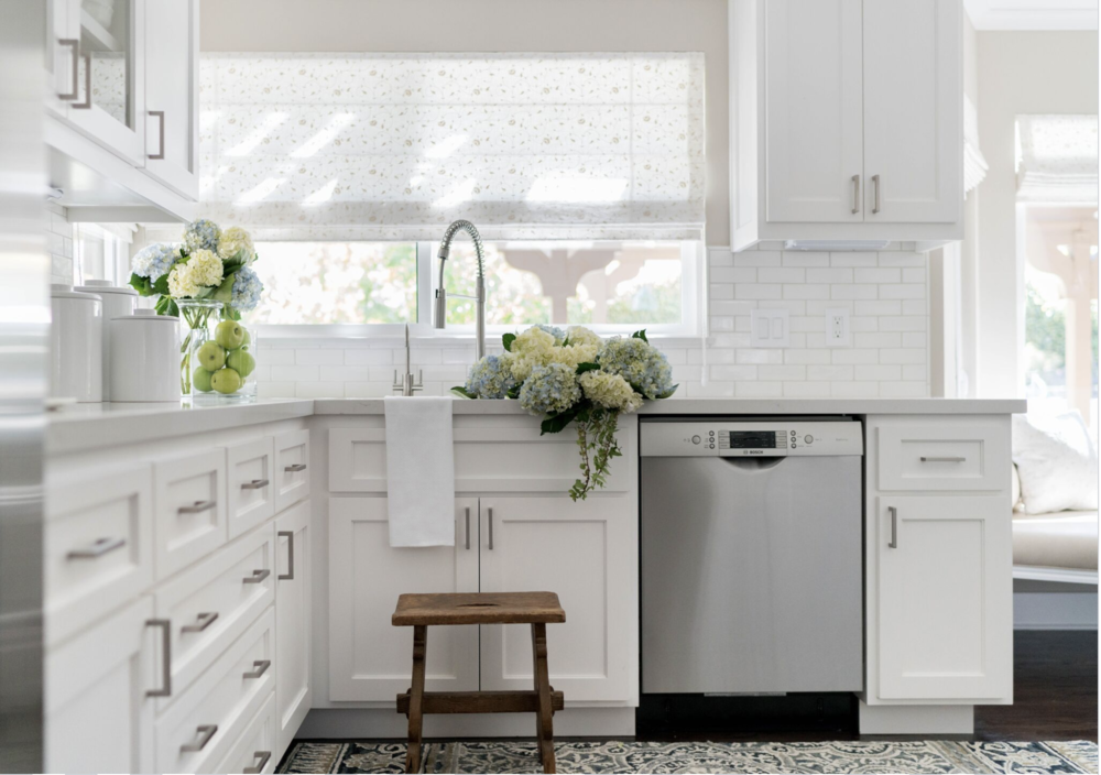 Four Point Design Build designed this dreamy white kitchen.