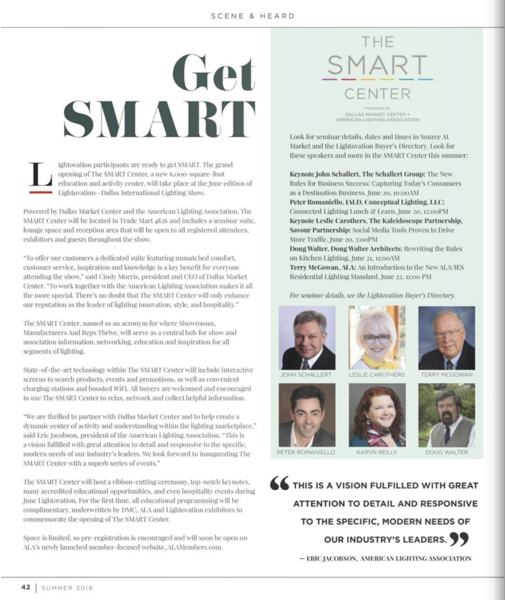 Dallas Market Center's SOURCE magazine, discussing the opening of the new SMART Center