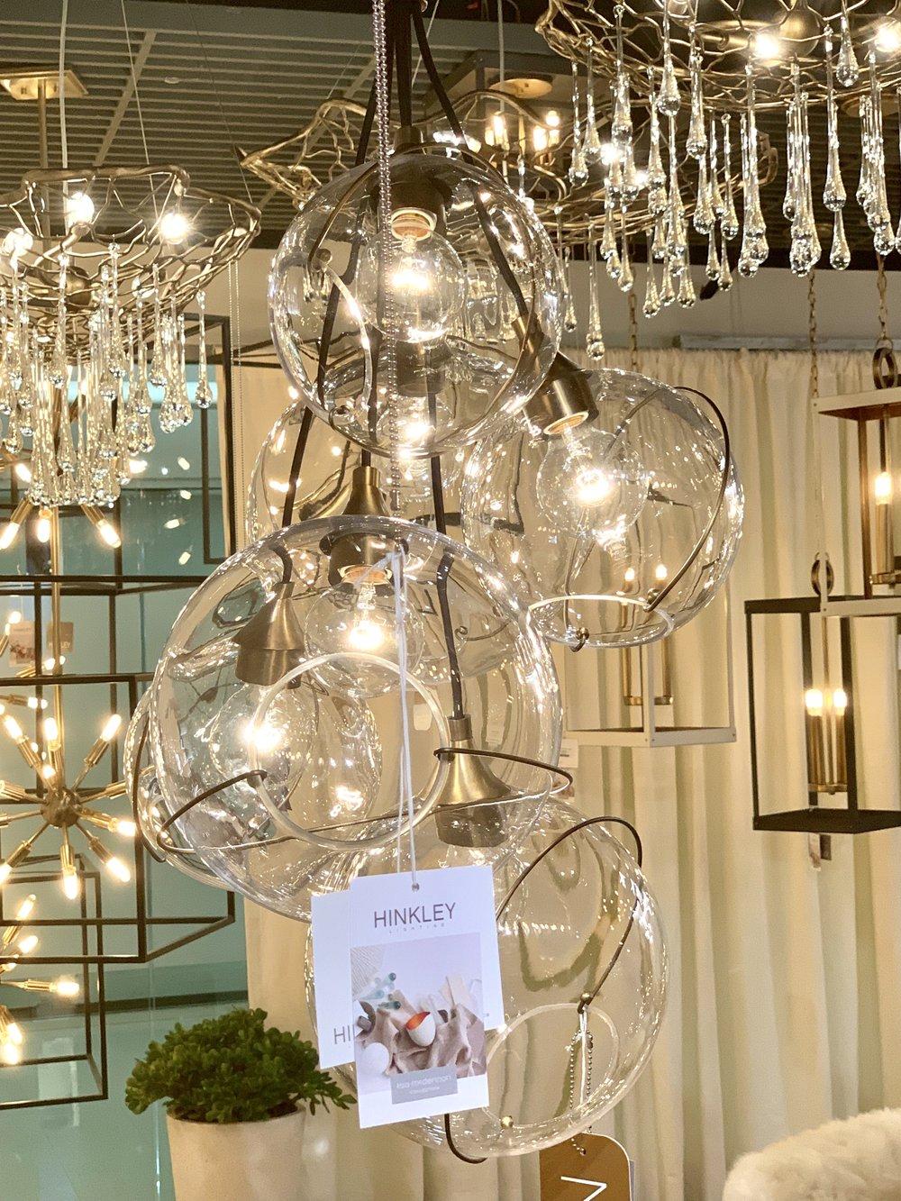 New lighting fixture by interior designer Lisa McDennon for Hinkley Lighting, debuting at January 2019 Lightovation during Dallas Market , image by Leslie Carothers .jpg
