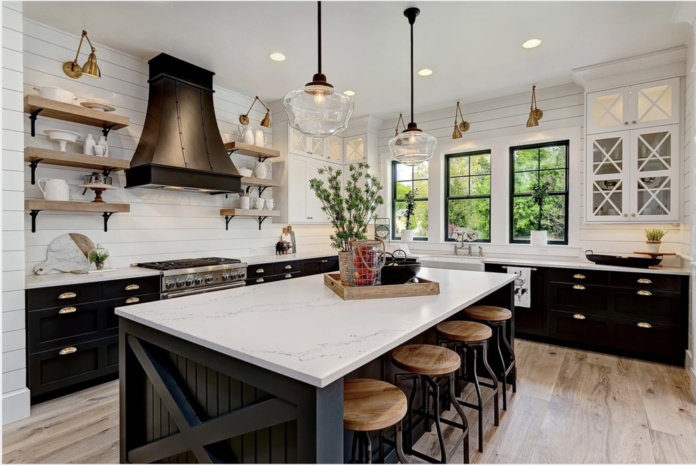 Best Farmhouse Decor Kitchens. Design: Emily Williams Clark of Clark&Co. in Boise, Idaho