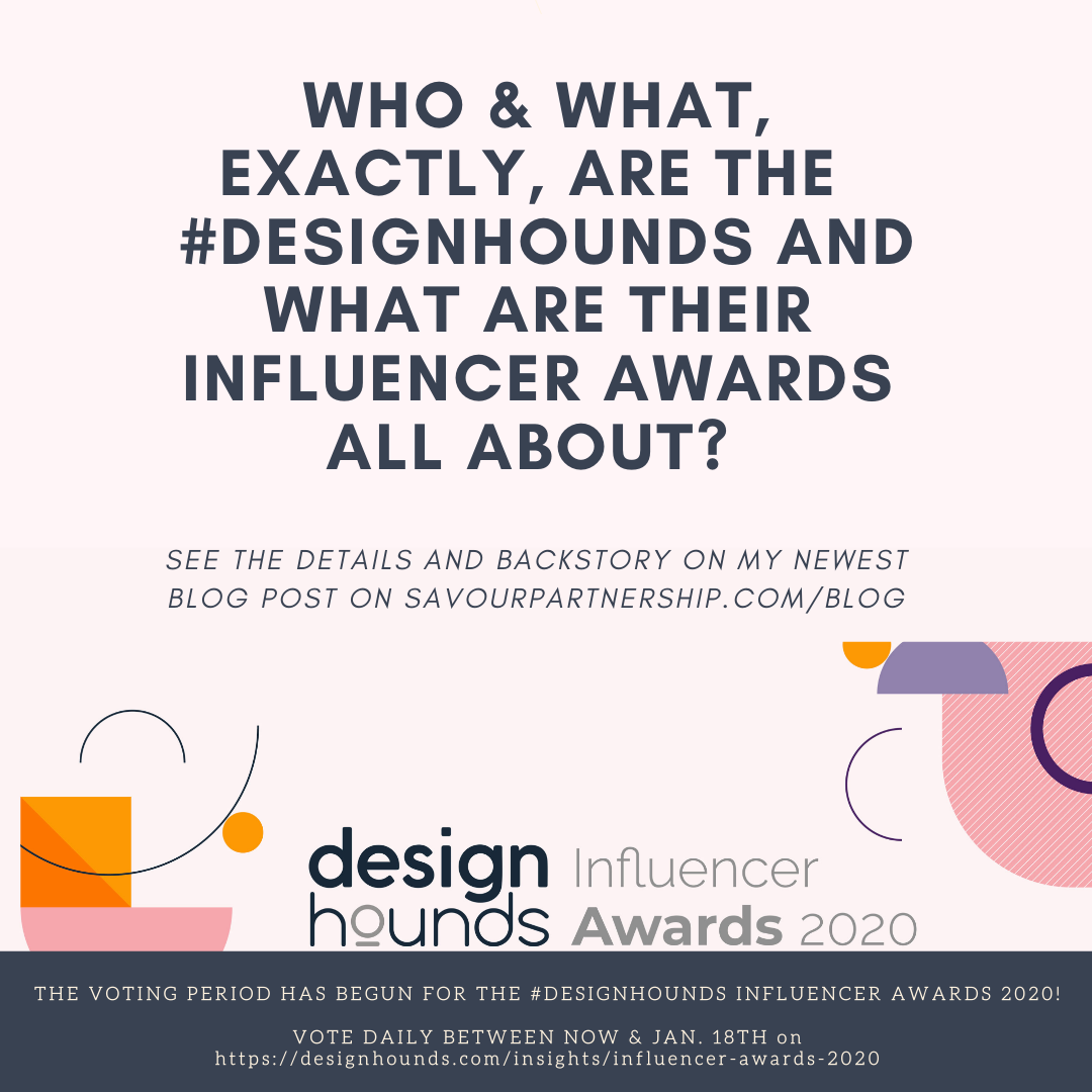 What Are The Design Hounds Influencer Awards Savour Partnership