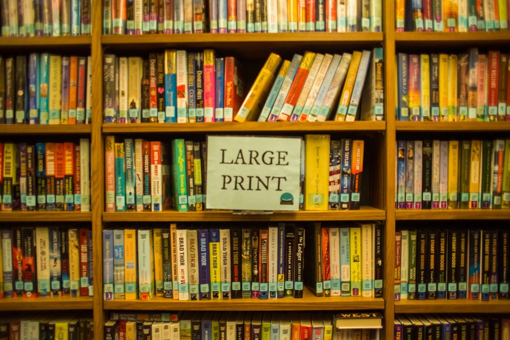 Adult-services-community-large-print-books-reading-the-dalles-library