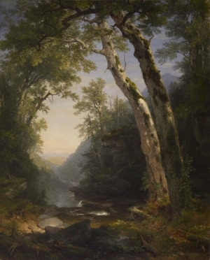 The Hudson River School's aesthetic is exemplified beautifully in this painting by Asher Brown Durand.
